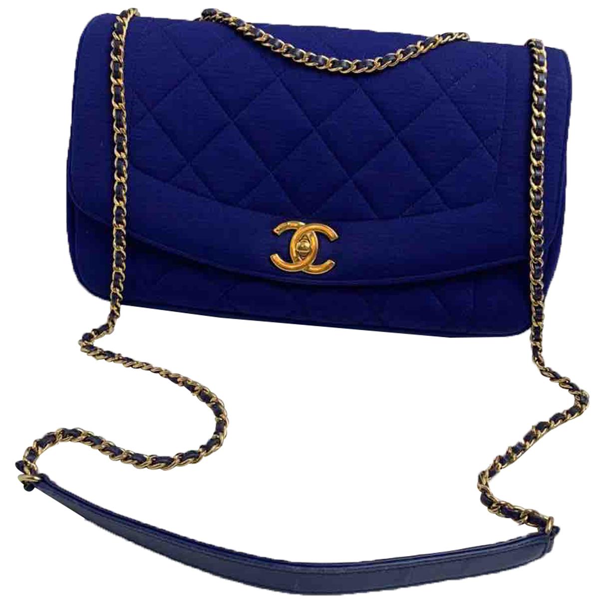 Chanel Diana Blue Leather handbag for Women N