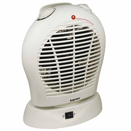 Oscillating Fan Heater with Thermostat White, One Size , White