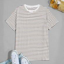 T-Shirt mit Streifen und kurzen Ärmeln