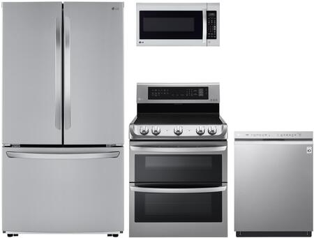 4 Piece Kitchen Appliances Package with LFCC22426S 36