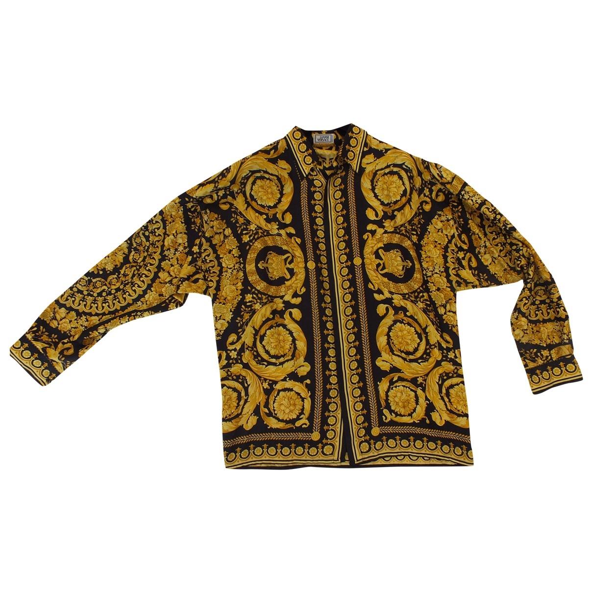Gianni Versace \N Hemden in  Gold Seide