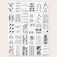 30sheets Mixed Pattern Tattoo Sticker