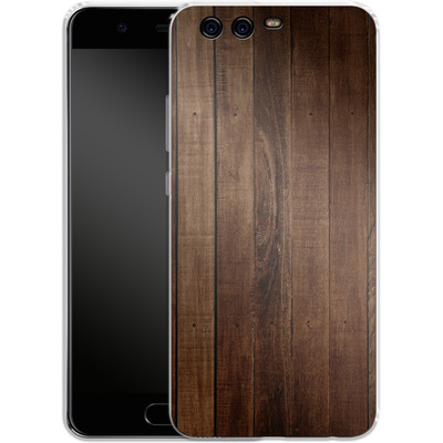 Huawei P10 Silikon Handyhuelle - Dark Wood Floor von caseable Designs