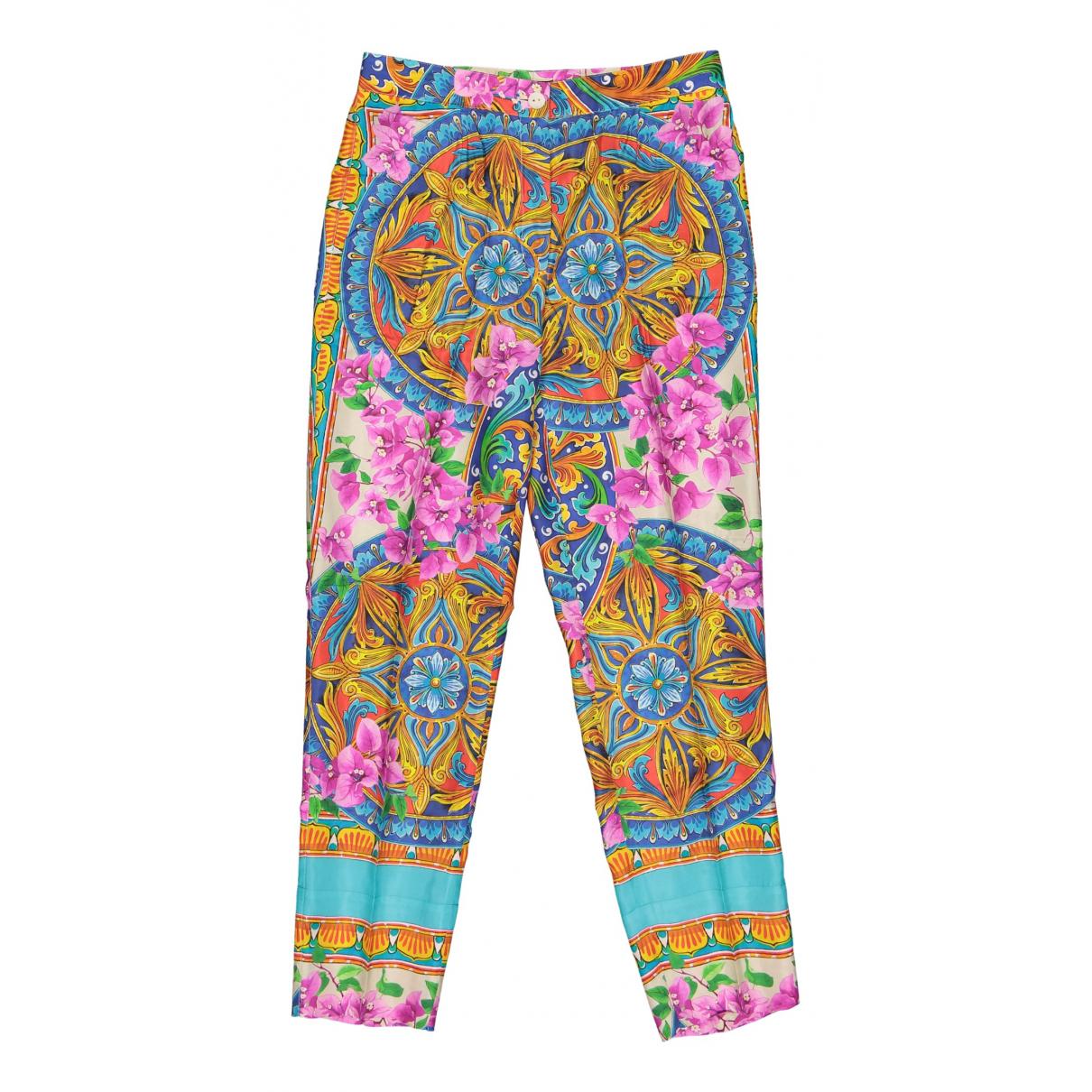 Pantalon de traje de Seda Dolce & Gabbana