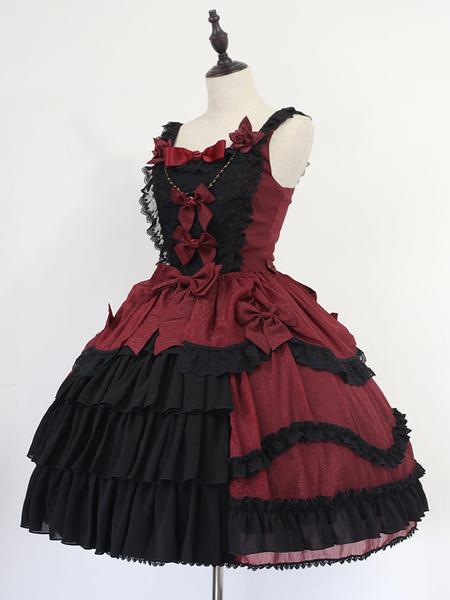 Milanoo Rococo Lolita Dress Neverland Bell JSK White Bow Lolita Jumper Skirt Original Design