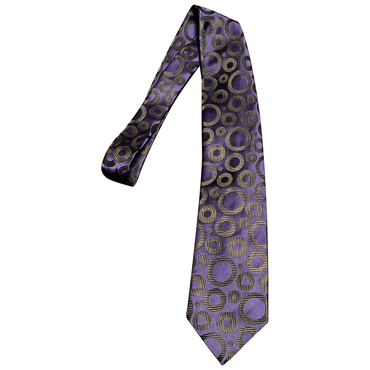 Ohne Titel \N Navy Silk Ties for Men \N