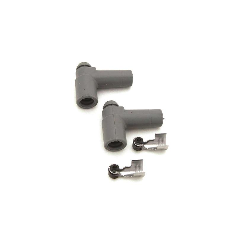 FAST 2 Pack of 90 Degree HEI Spak Plug Boots and Terminals