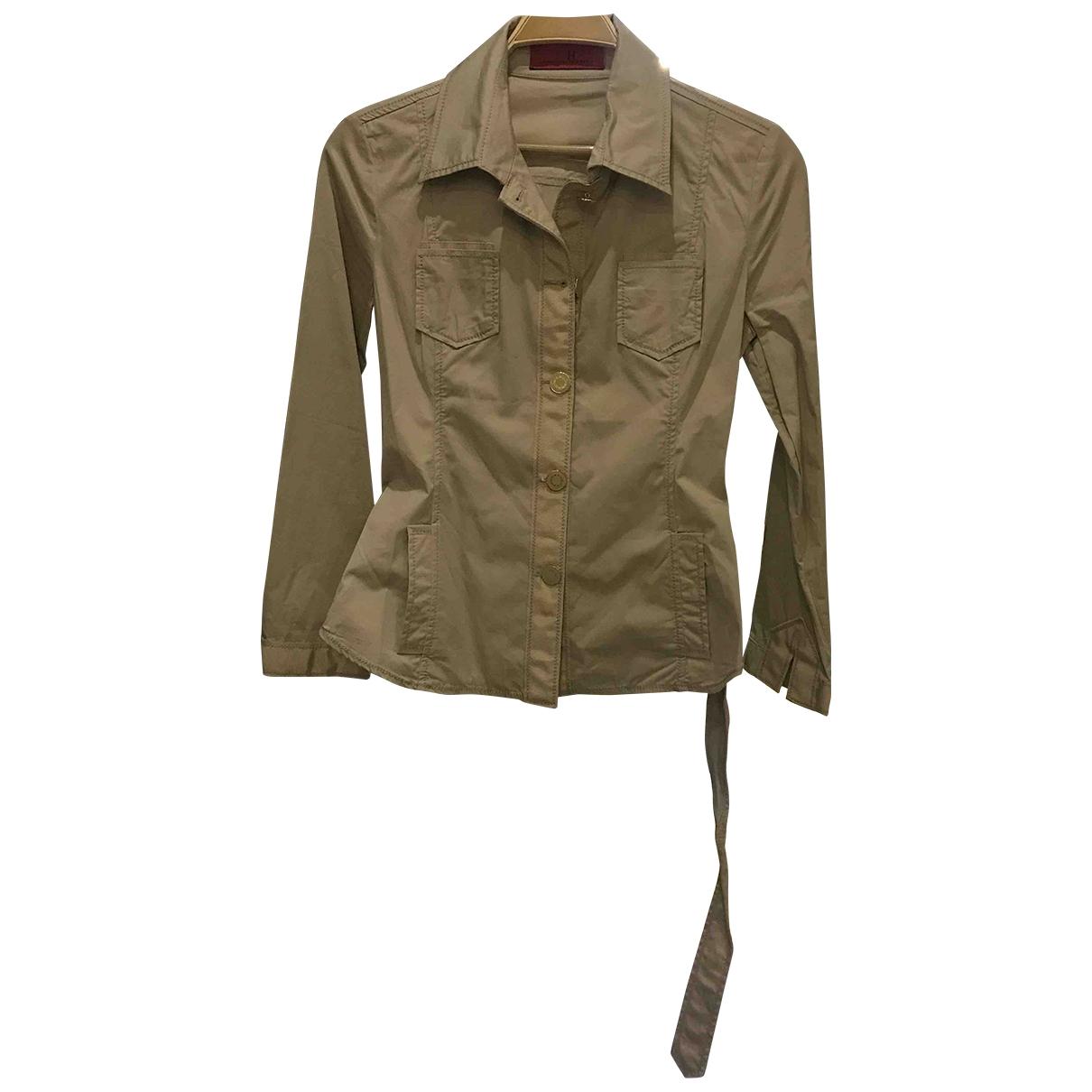Carolina Herrera \N Beige Cotton jacket for Women 6 US