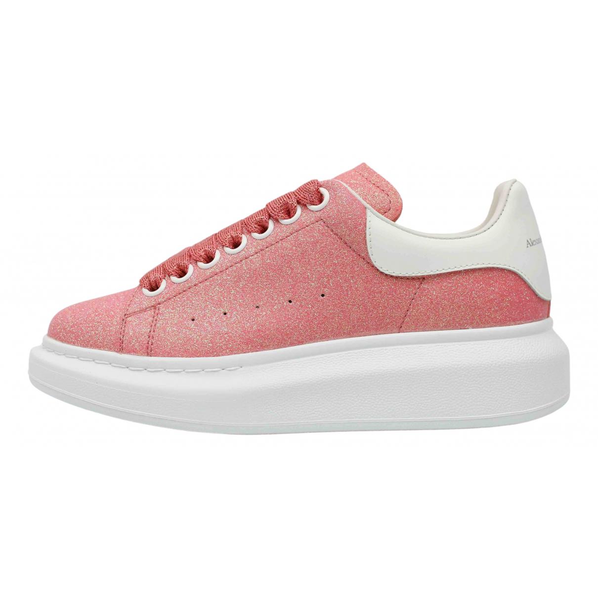 Alexander Mcqueen - Baskets Oversize pour femme en a paillettes - rose