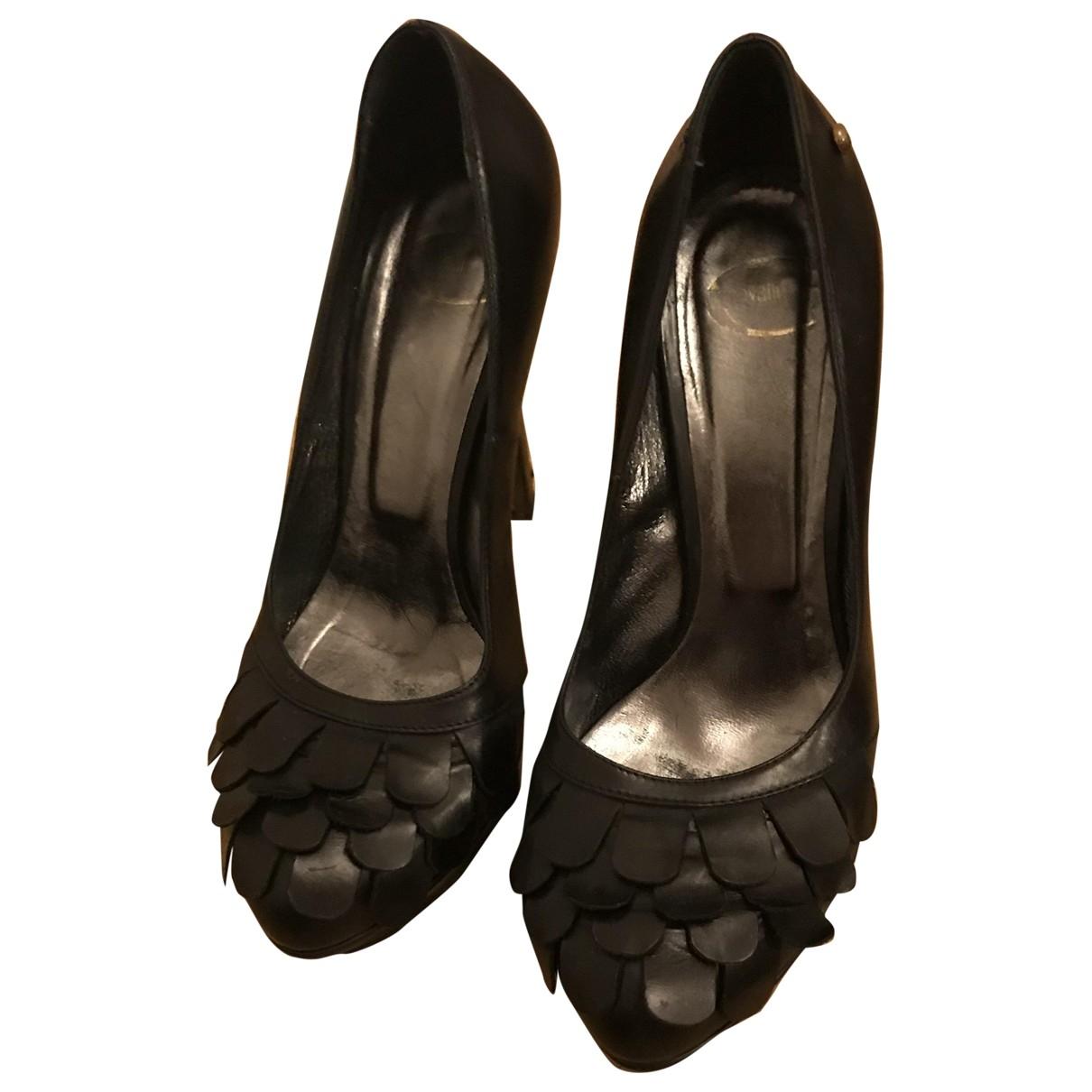 Just Cavalli - Escarpins   pour femme en cuir - noir