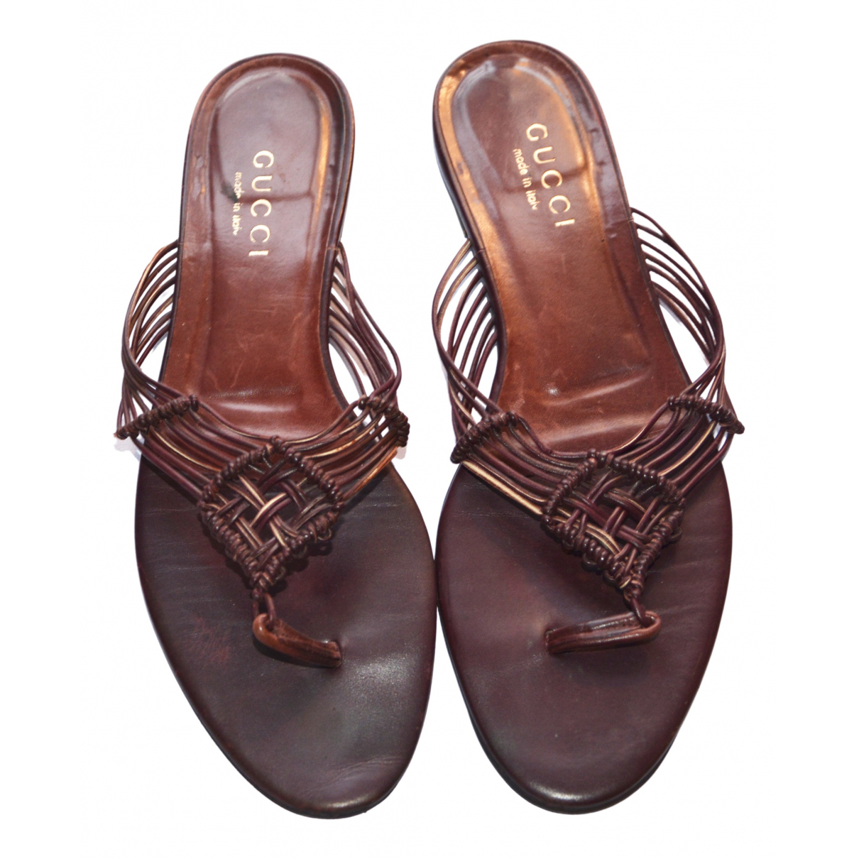 Gucci \N Brown Leather Sandals for Women 39.5 EU