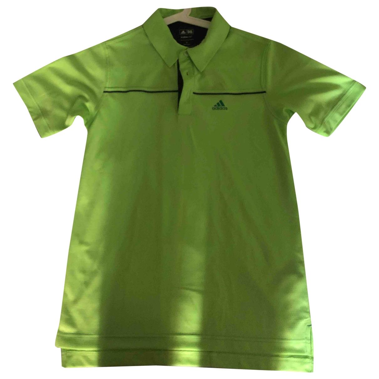 Polo en Poliester Verde Adidas