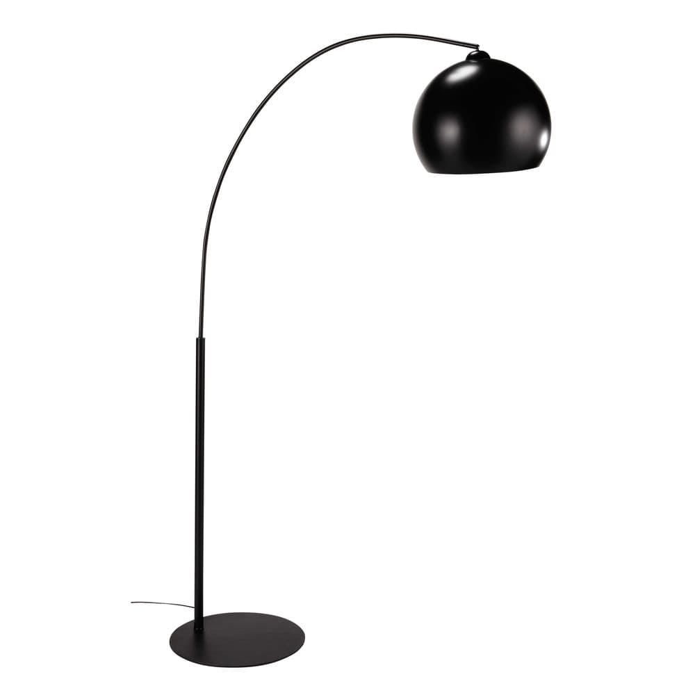 Stehlampe aus Metall, H 195cm, schwarz
