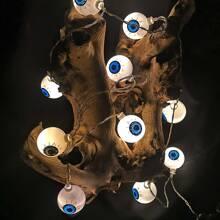 Luz de cuerda de Halloween con 10 piezas bombilla de bola de ojo
