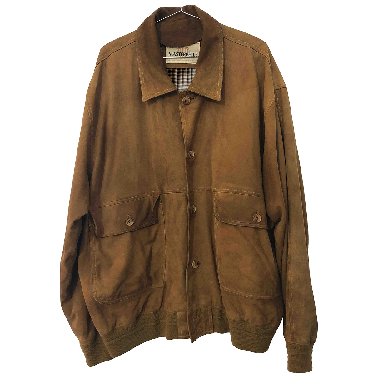 Non Signé / Unsigned \N Camel Leather jacket  for Men 56 IT