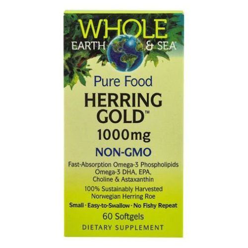 Whole Earth & Sea Herring Gold Omega-3 60 Softgels by Natural Factors