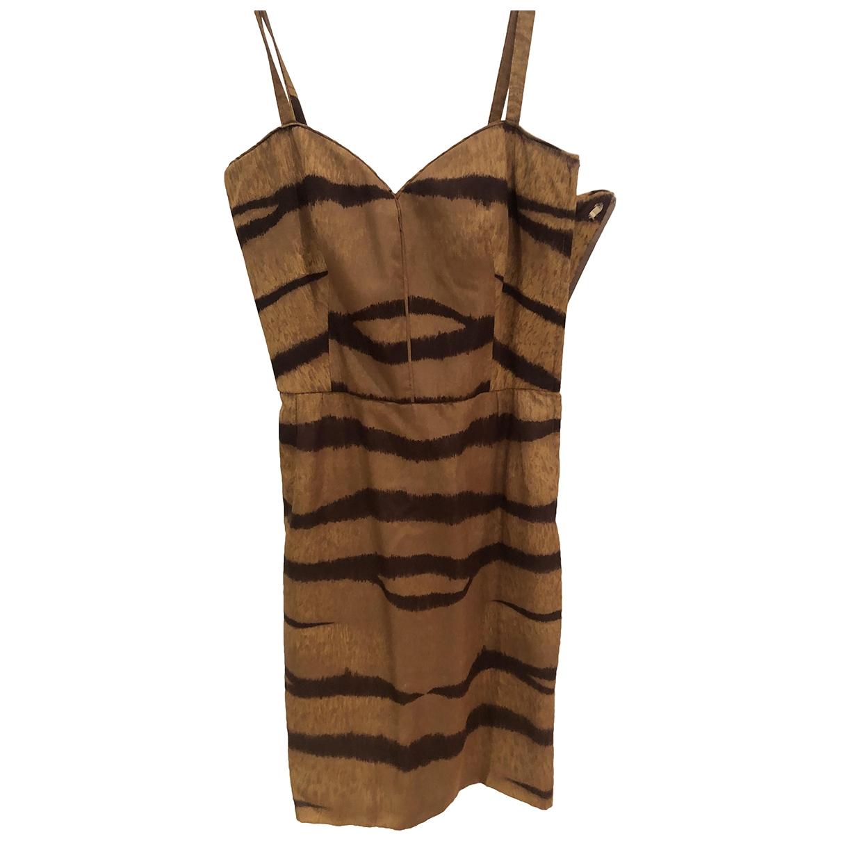Valentino Garavani \N Beige Cotton dress for Women 38 FR
