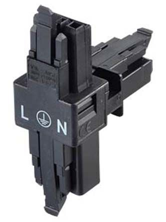 Wago 890 Series, Female, Male 3 Pole 3 Way WINSTA MINI BT Distribution Connector, Cable Mount, Rated At 16A, 250 V, Black