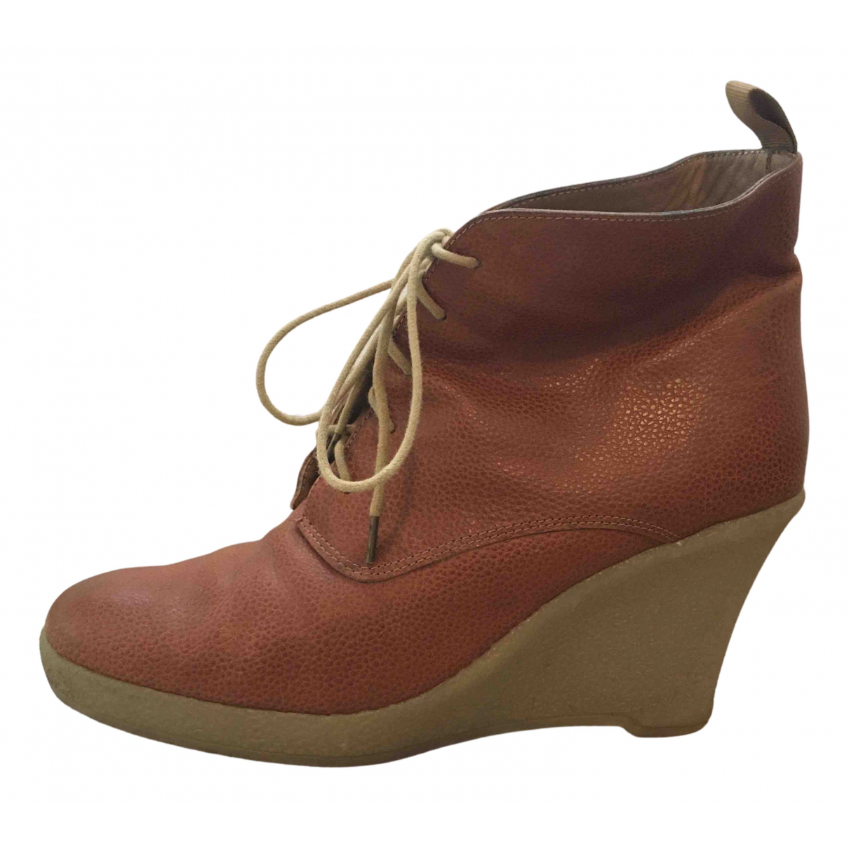 Mellow Yellow N Camel Leather Ankle boots for Women 40 EU