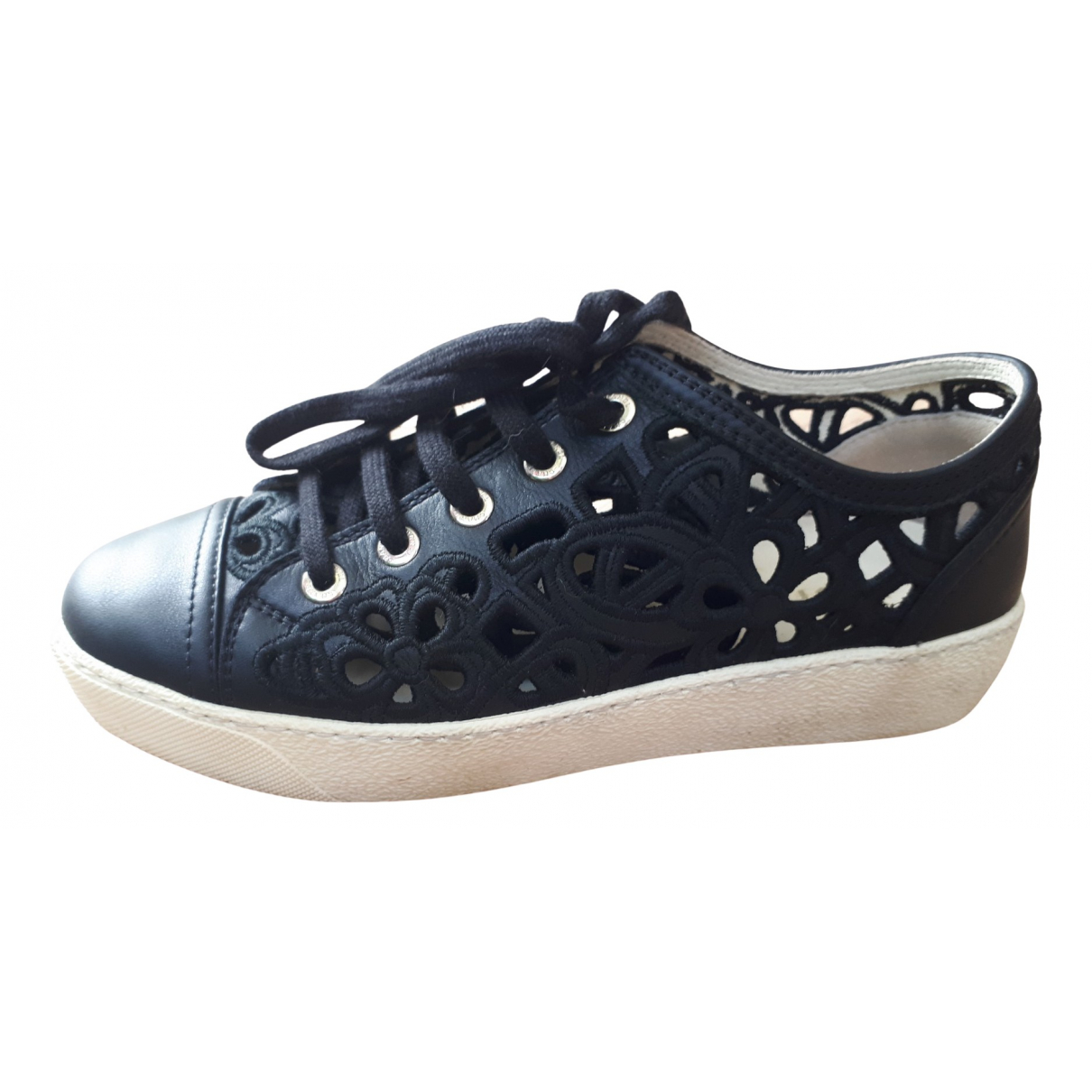 Chanel N Black Leather Trainers for Women 35.5 EU