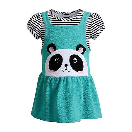 Youngland Baby Girls Sleeveless 2-pc. Dress Set, 18 Months , Blue
