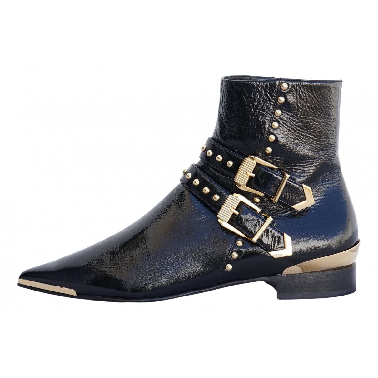 Versace \N Black Patent leather Ankle boots for Women 37.5 EU