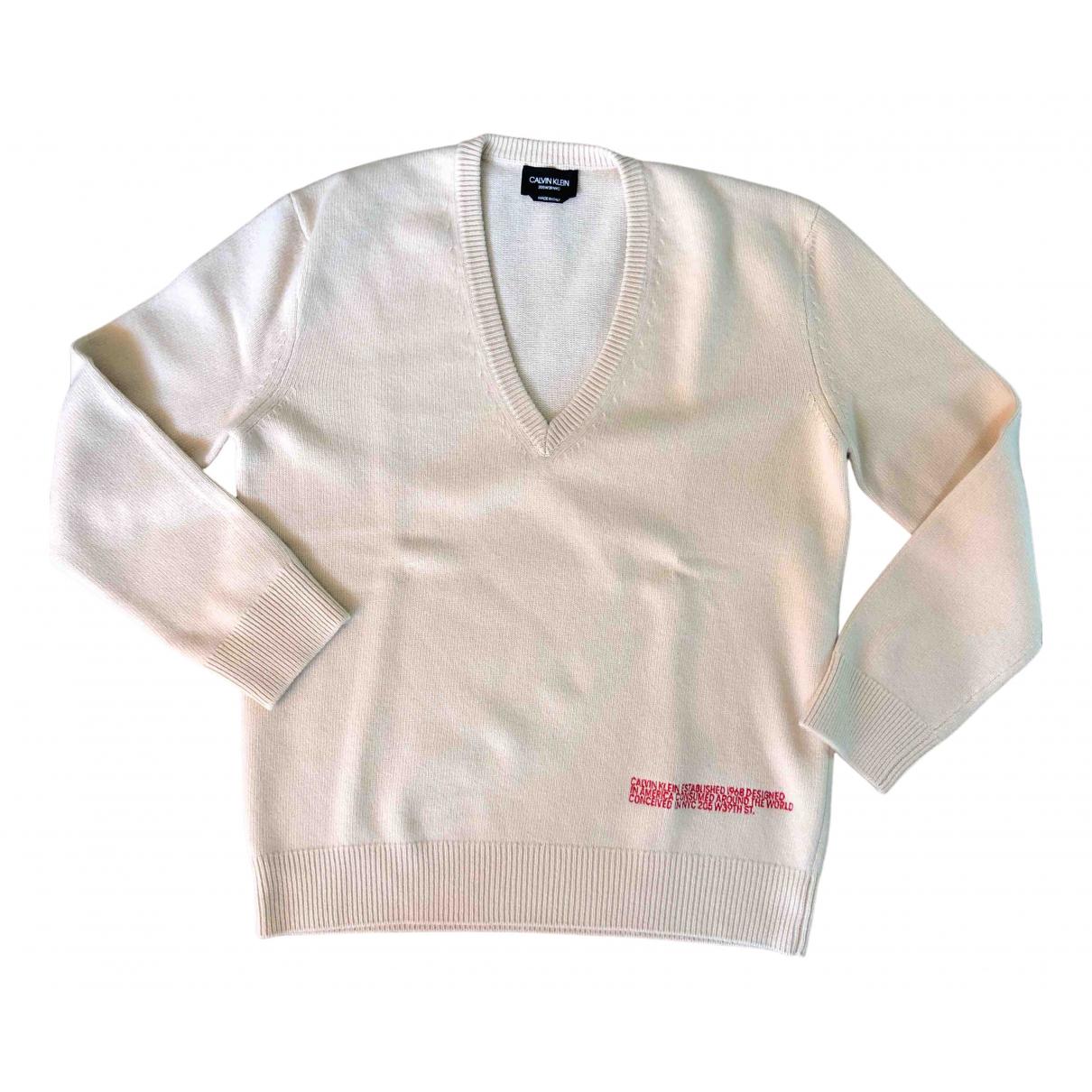 Calvin Klein 205w39nyc - Pulls.Gilets.Sweats   pour homme en cachemire - beige