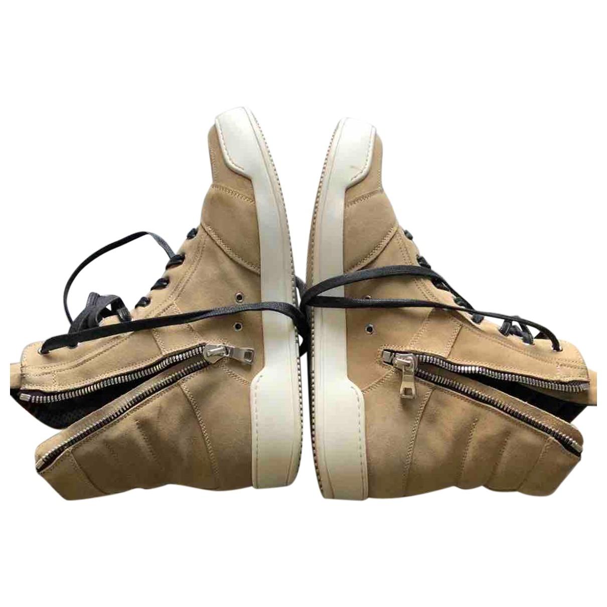 Balmain \N Sneakers in  Kamel Veloursleder