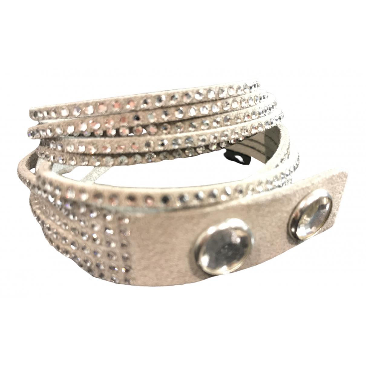 Swarovski Slake Armband in  Silber Leder