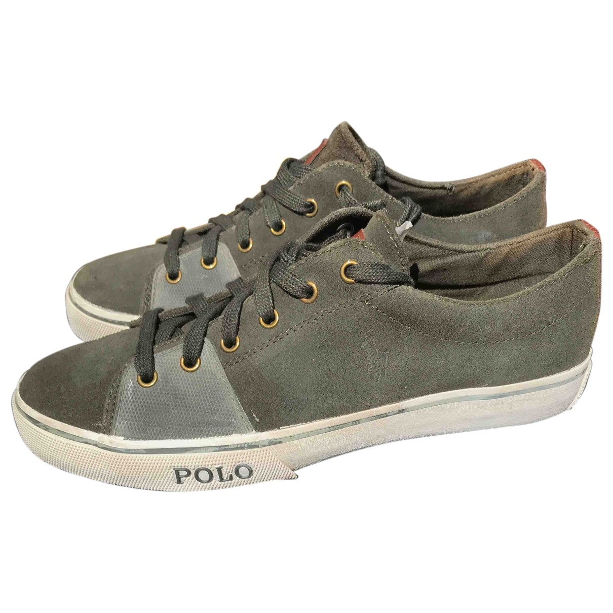 Polo Ralph Lauren \N Green Suede Trainers for Men 43 EU