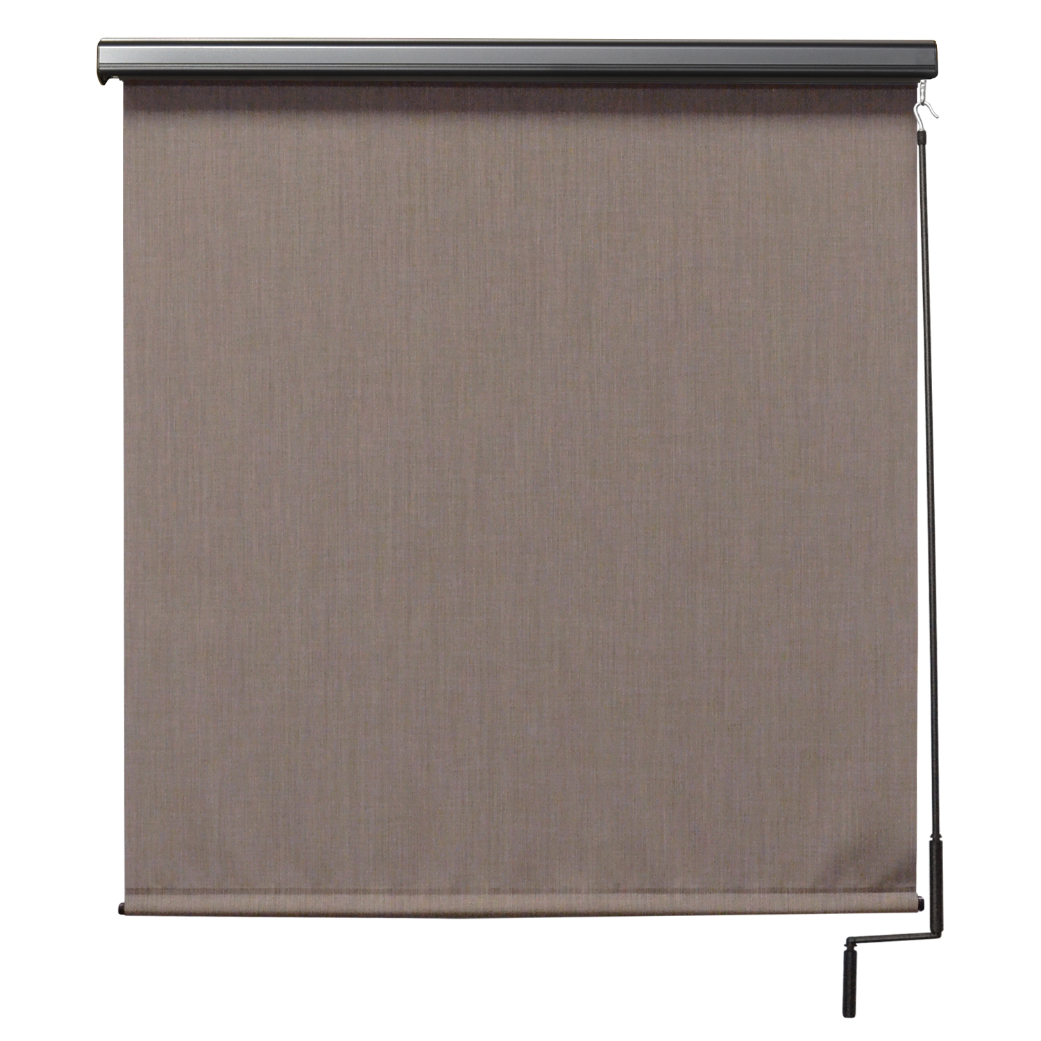 Premier Cordless Outdoor Sun Shade with Protective Valance, 7' W x 8' L, Sandstone