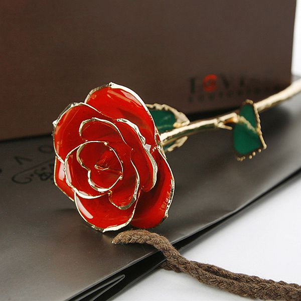 Romantic Never Fade Few Colors for Choose 24K Gold Rose