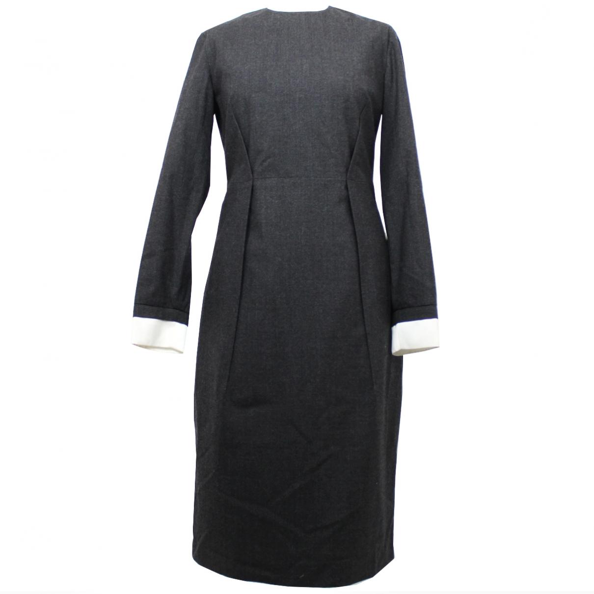 Jil Sander - Robe   pour femme en laine - gris