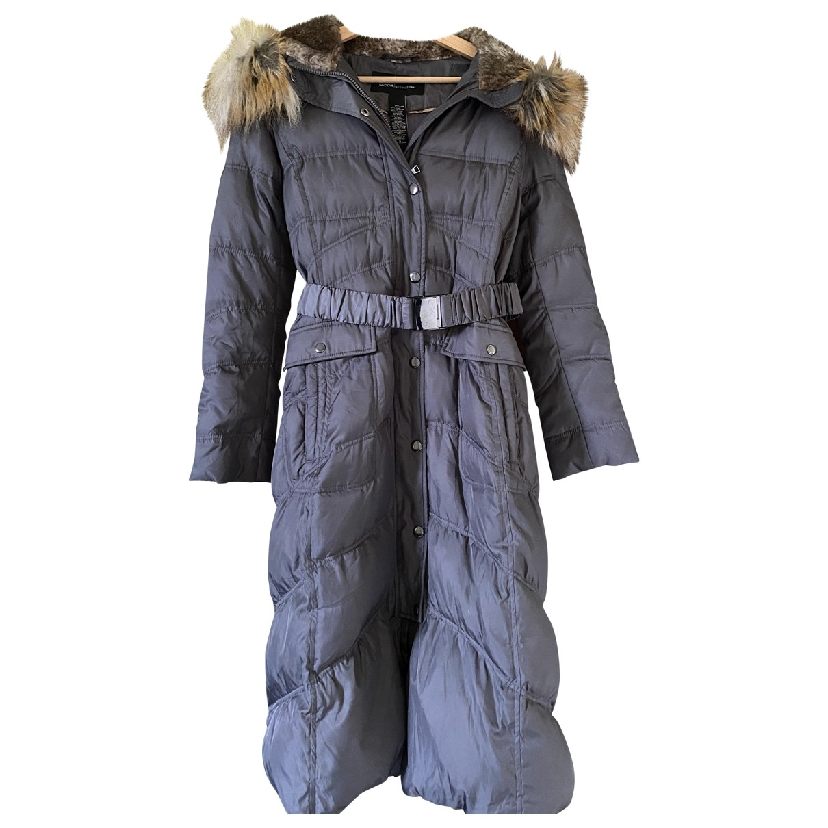 Non Signé / Unsigned \N Grey coat for Women 36 FR