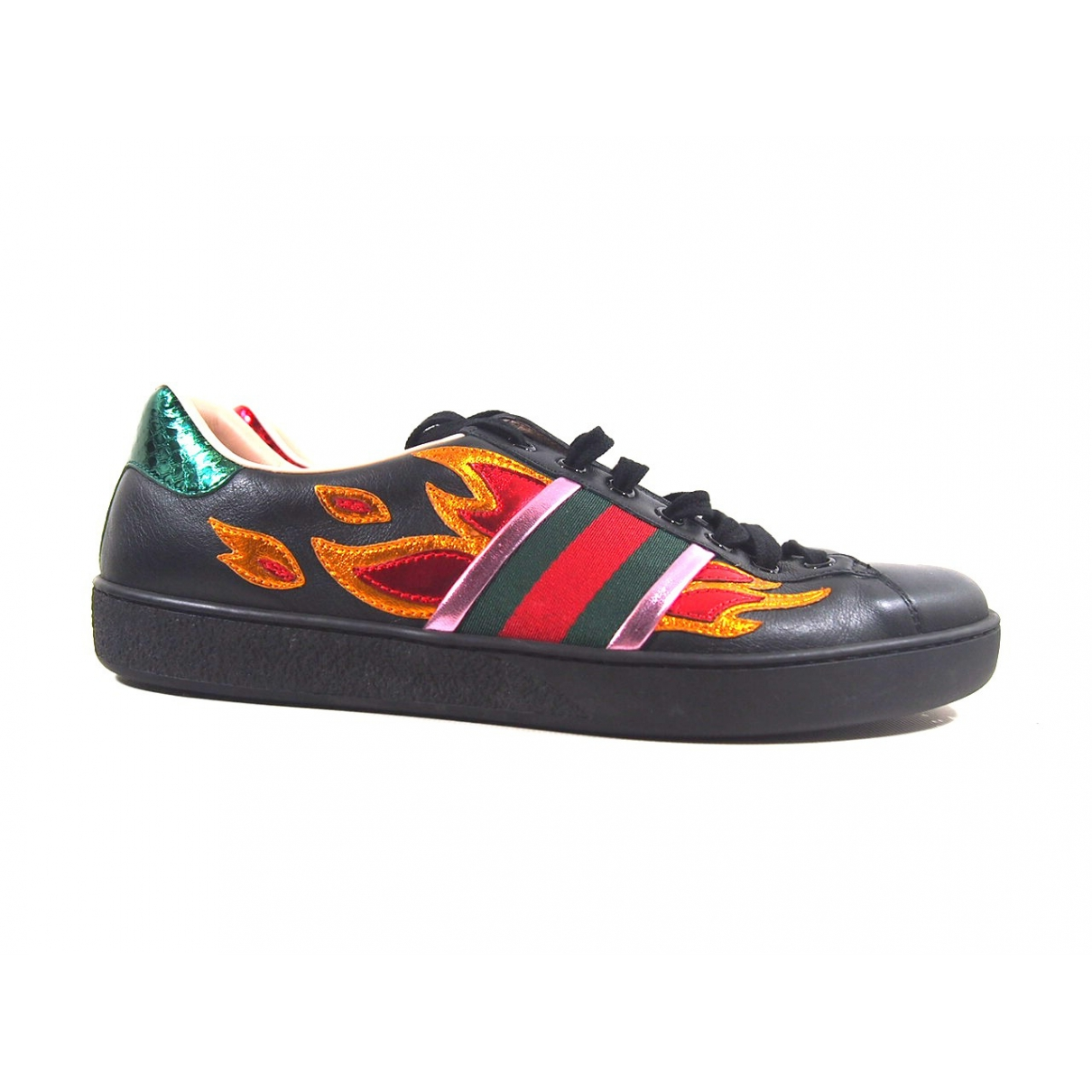 Gucci \N Black Leather Trainers for Women 7 UK