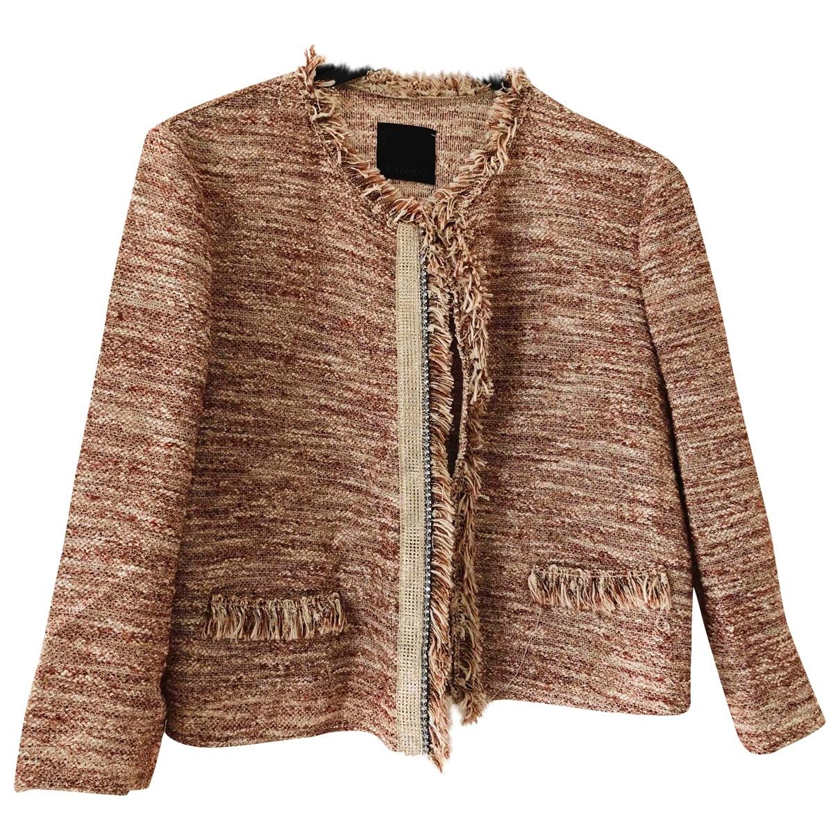 Pinko - Veste   pour femme en coton - bordeaux