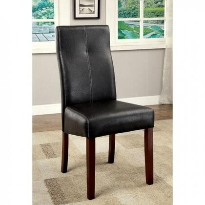 Bonneville I Collection CM3824SC-2PK Set of 2 Contemporary Style Side Chair with Leatherette Parson in Brown
