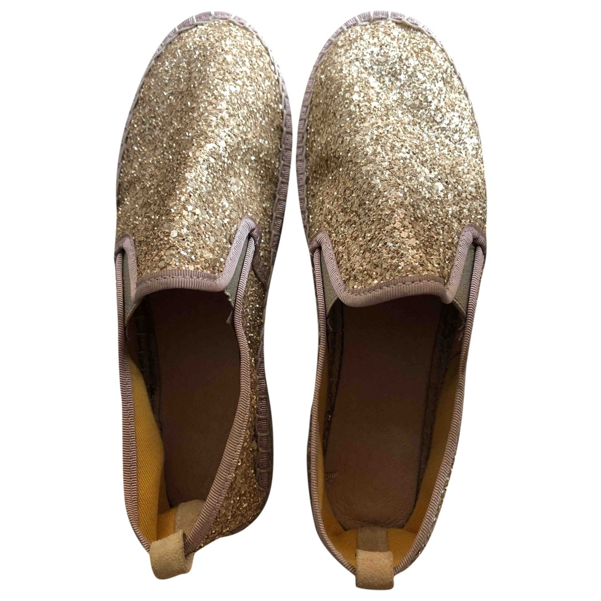 Non Signé / Unsigned \N Gold Glitter Espadrilles for Women 37 EU