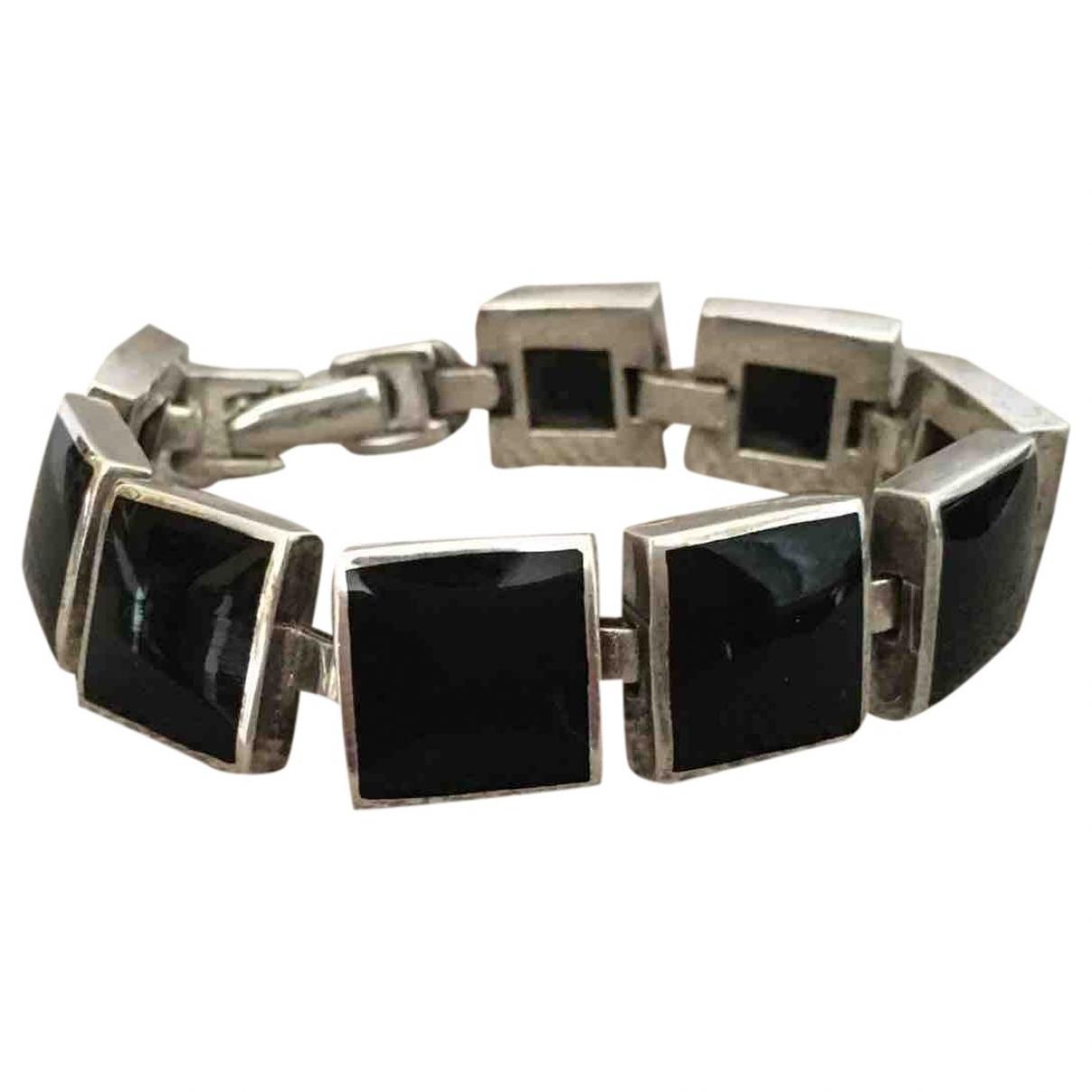 - Bracelet   pour femme en argent - noir