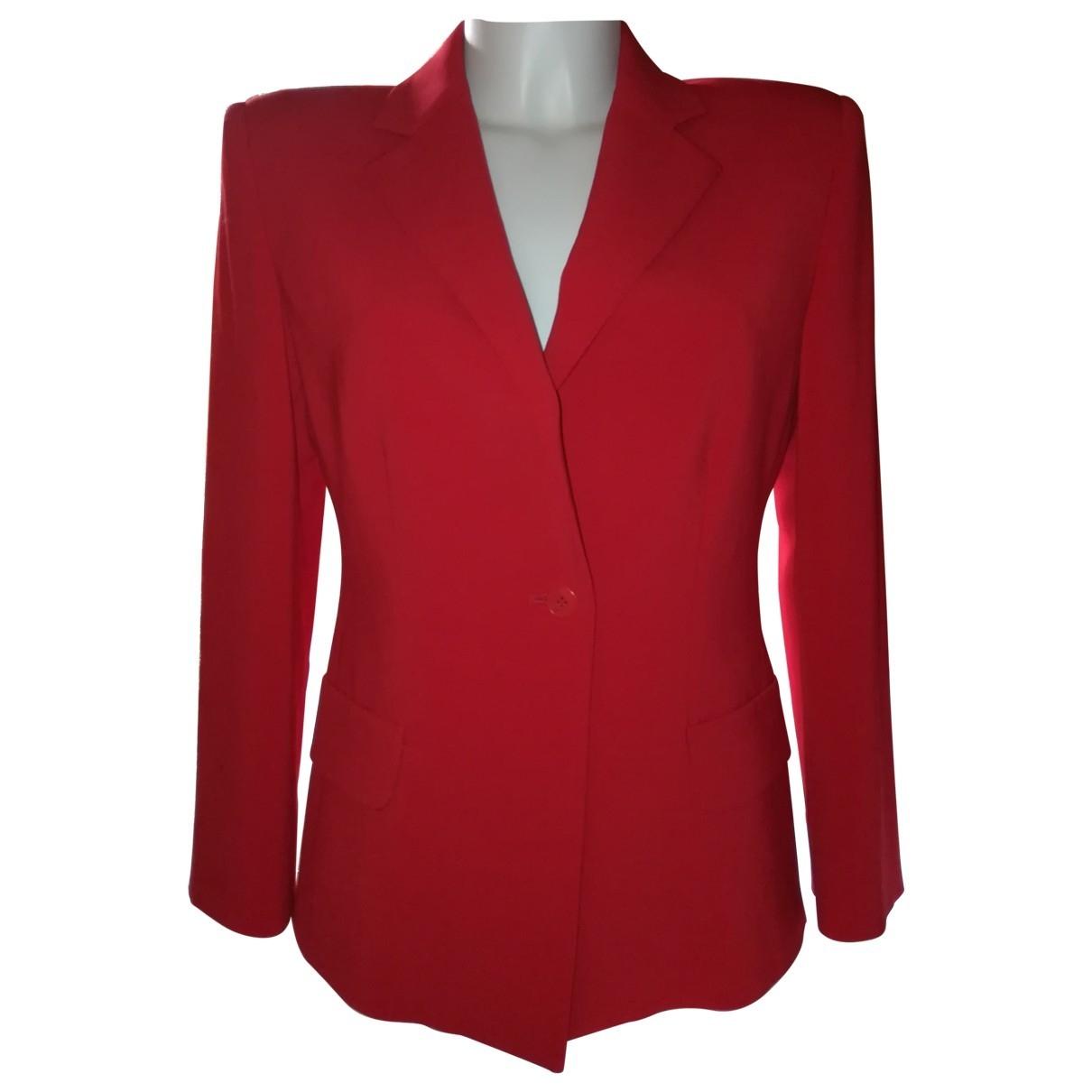 Emporio Armani - Veste   pour femme - rouge