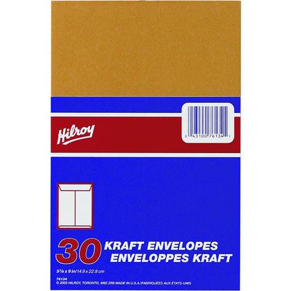 Hilroy@ ouverture fin kraft enveloppe #2 - 5-7/8 x 9
