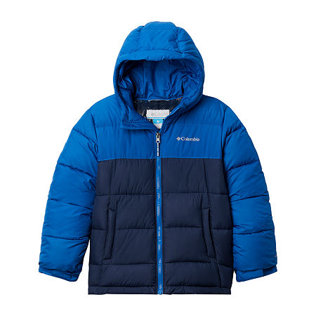 Columbia Sportswear Co. Pike Lake Little & Big Boys Water Resistant Heavyweight Puffer Jacket, Large , Blue