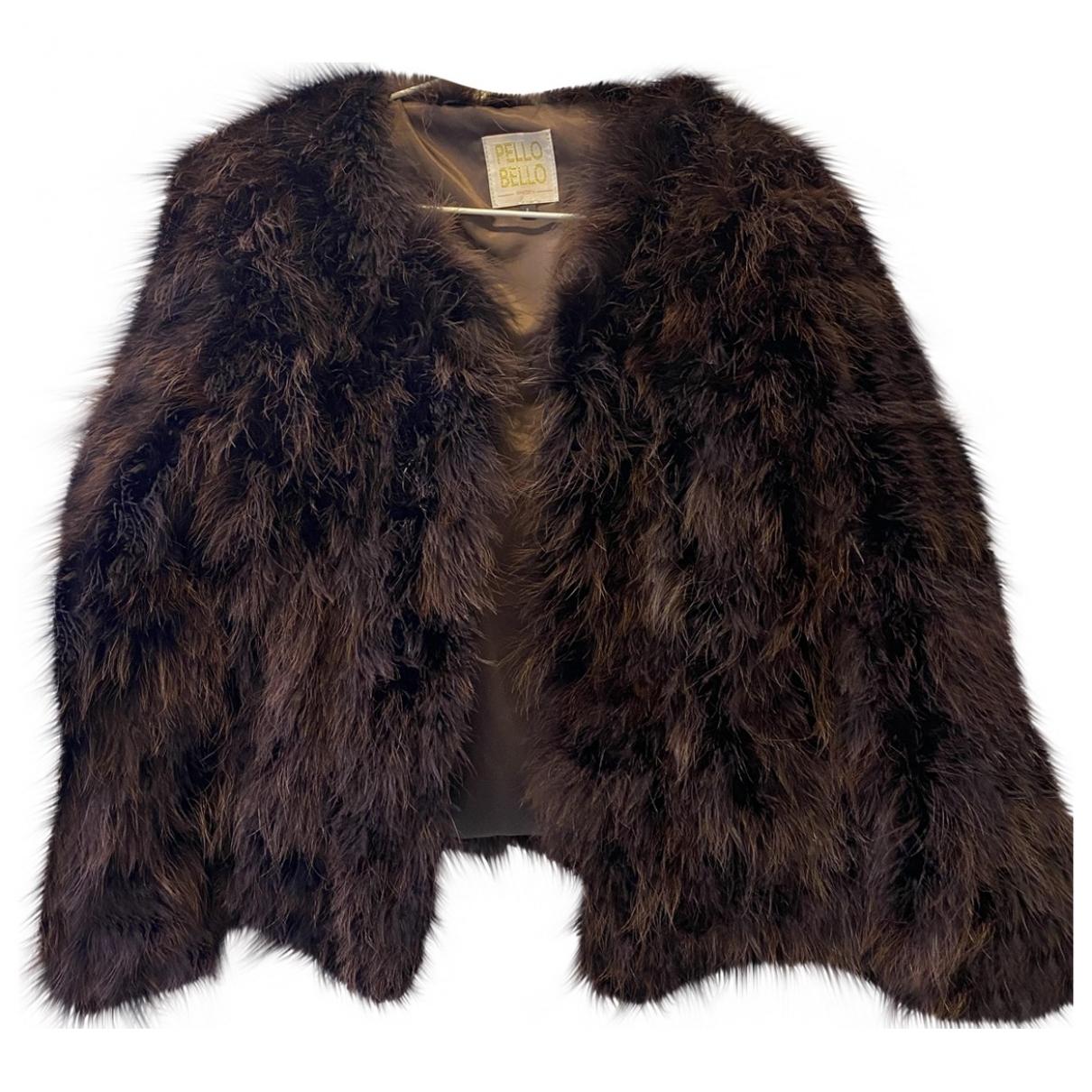 - Veste   pour femme en fourrure synthetique - marron
