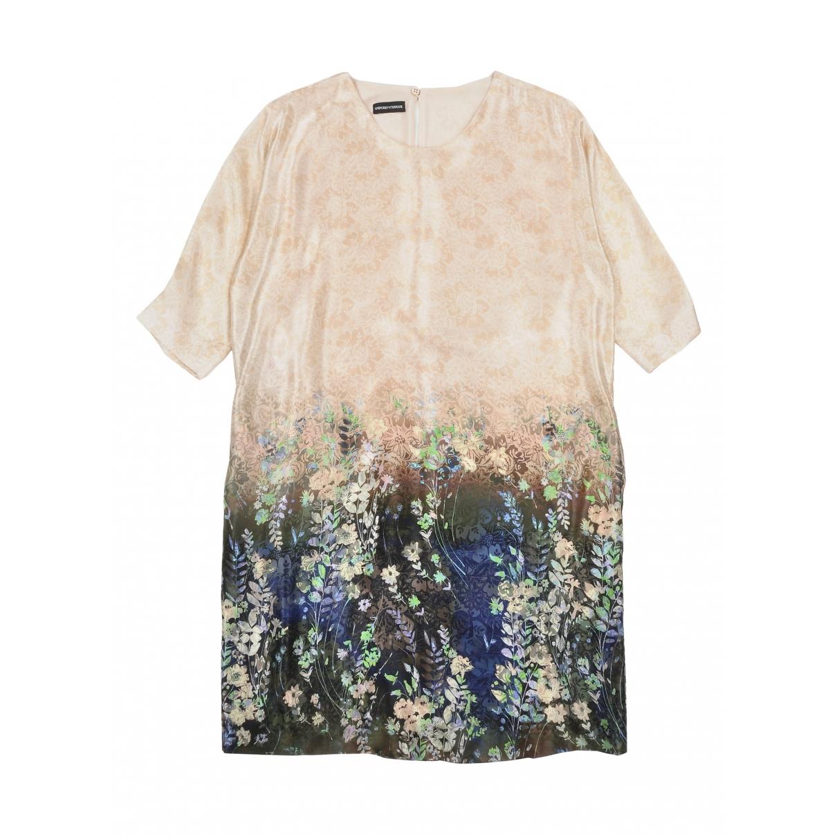 Emporio Armani \N Multicolour Silk dress for Women 38 IT