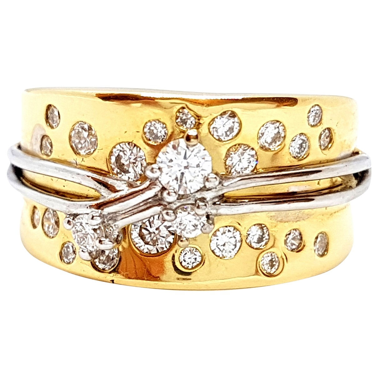 Autre Marque \N Gold Yellow gold ring for Women 54 EU