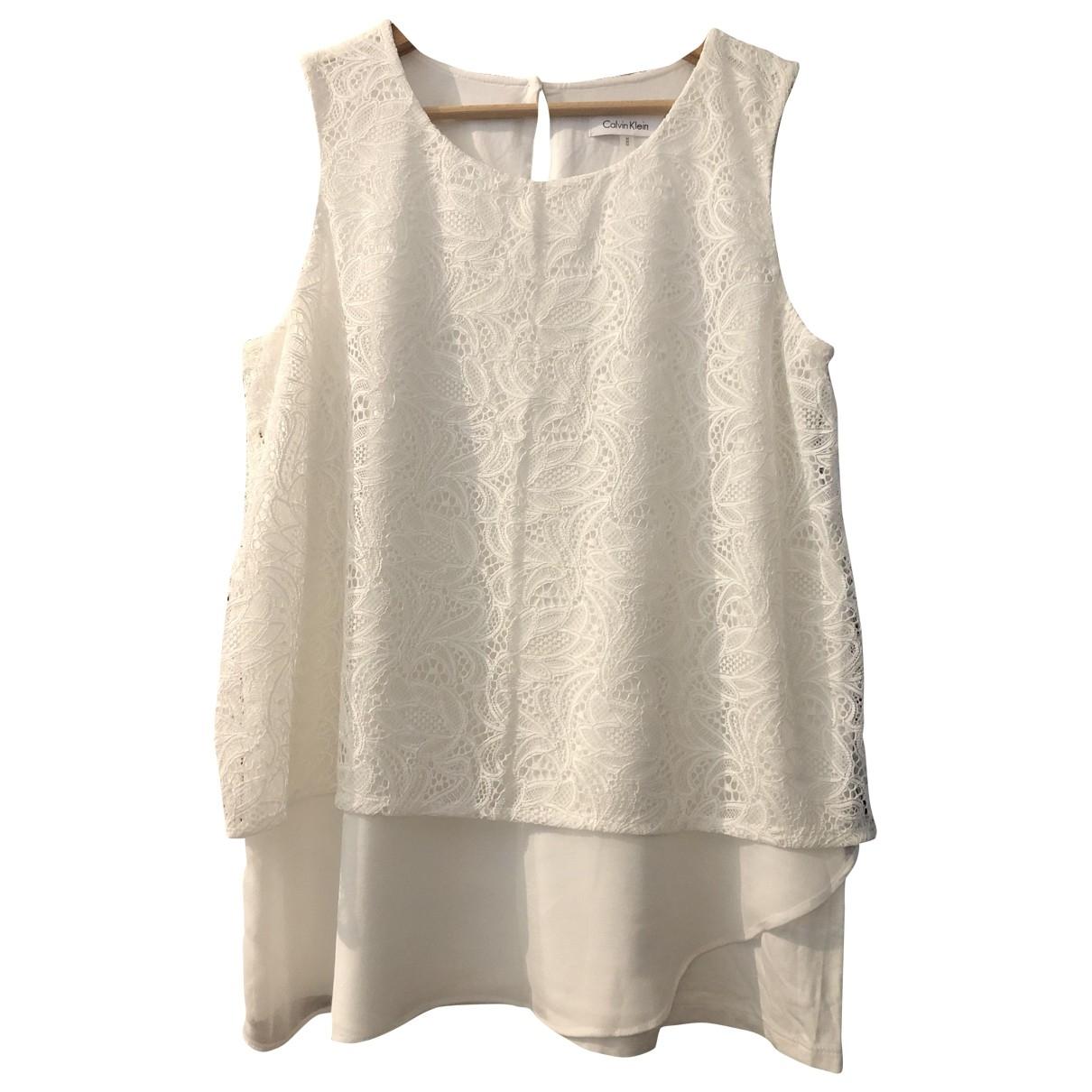 Calvin Klein - Top   pour femme - blanc