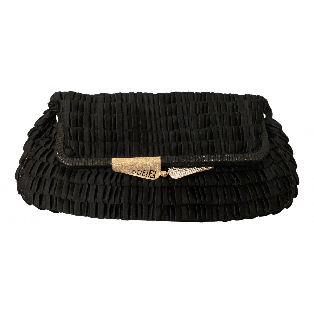 Fendi N Black Silk Clutch bag for Women N