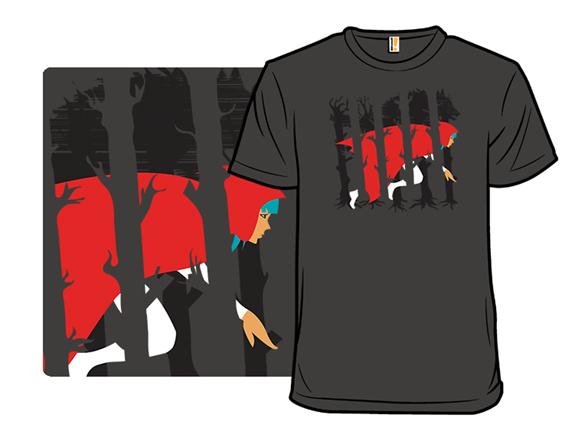 Red Running Hood T Shirt