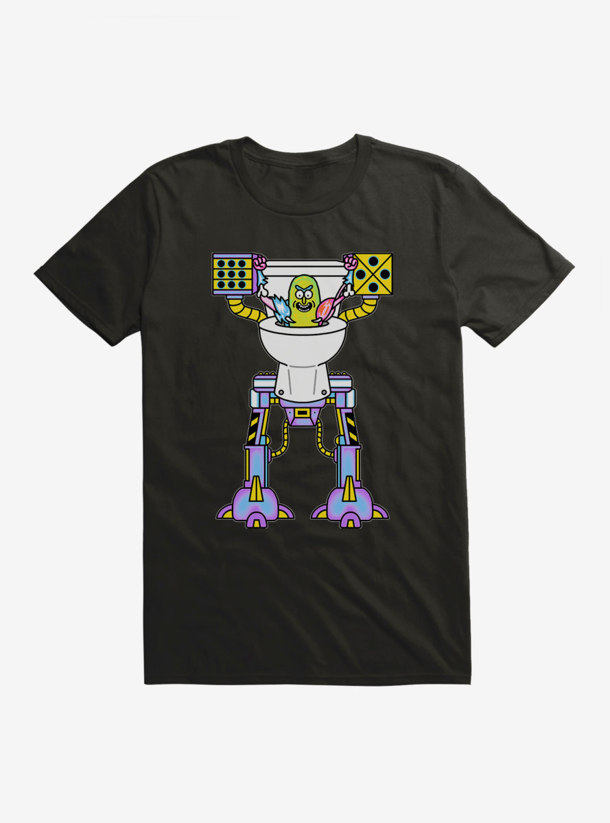 Rick And Morty Neon Pickle Robot T-Shirt