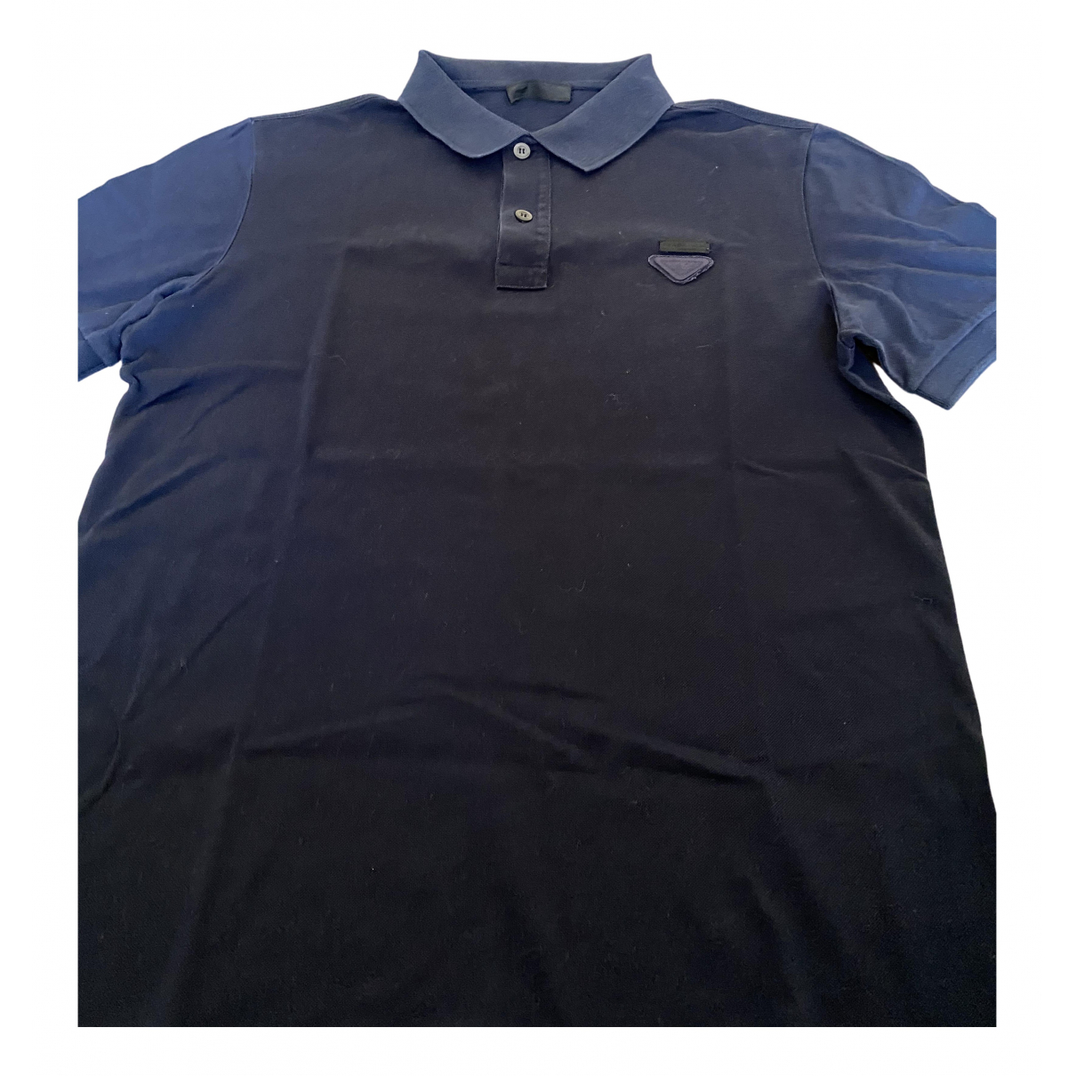 Prada N Blue Cotton Polo shirts for Men L International